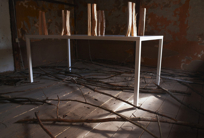 You will listen the footstep of pinocchio and hoichi. Tetsuya Machida Solo Exhibition November 2012